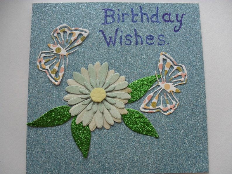 Geburtstagswünsche Karte.Atemberaubende Handgemachte Karte Geburtstagswünsche Blumenkarte Schmetterling Karte Geburtstagskarte Grußkarte