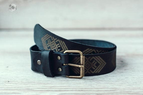 98afe629a5b9 Gift for him Black Leather belt Personalized Belt Leather