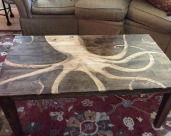 Octopus Table Etsy