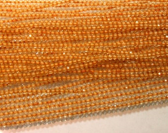 100%Natural Citrine Faceted Roundelle Beads , 2.mm 13'' Inches