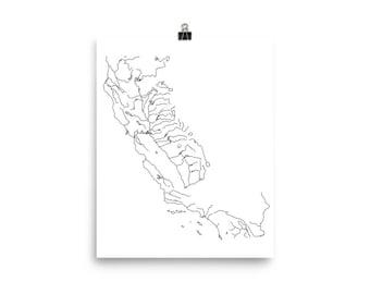 California Waterways Poster