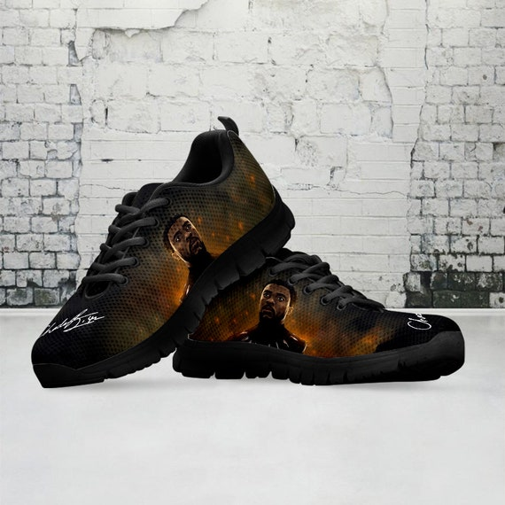 Chadwick Boseman Custom Sneaker Wakanda