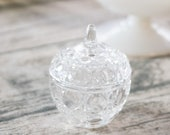 Vintage Crystal Apple Tri...