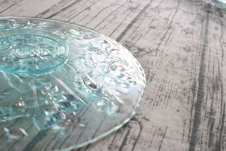 Antique Imperial Lustre Rose Ice Blue Carnival Glass Cake Stand cake riser 10 inch cake stand birthday cake stand wedding collectible glass