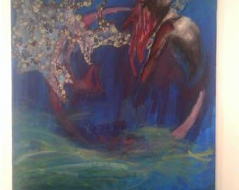 Painting, drawing, mixed media, artwork, art, fine arts