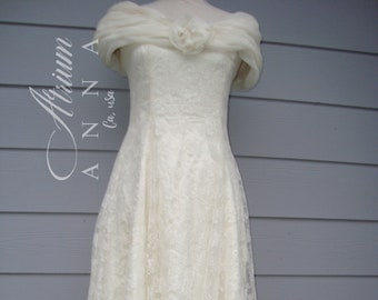 Scott McClintock Vintage Off-White Formal Dress, 6