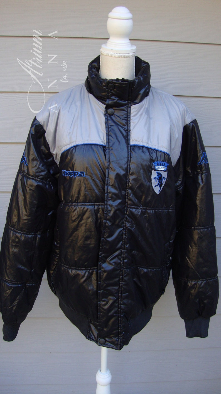 Kappa Classic Fashion Sports Black Vintage Sheen Bomber Jacket