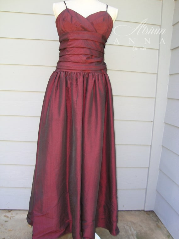 ABS Evening Red Long Gown/Formal Dress 12 | Etsy