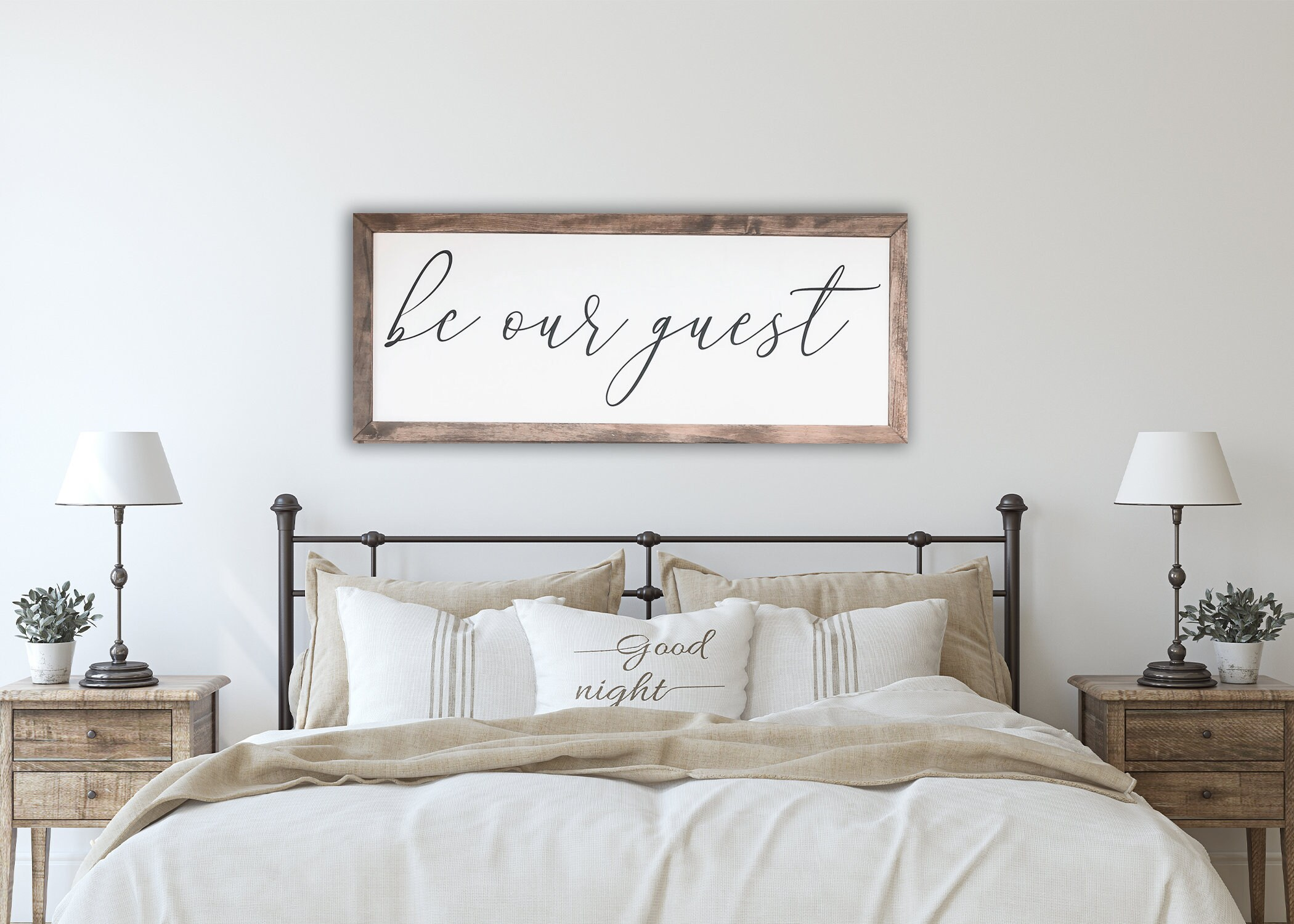 Be Our Guest Sign Farmhouse Bedroom Decor Guest Room Decor Etsy