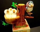 All Original Linemar Feeding Bird Watcher Battery Operated Toy Box 1950