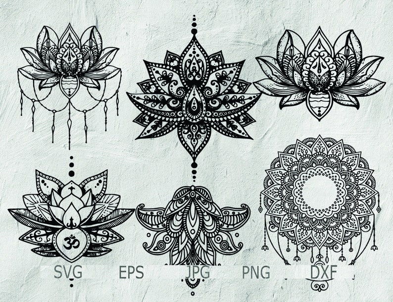 ff16d6f7a Set of Mandala Mandala Drawing Mandala SVG Intricate | Etsy