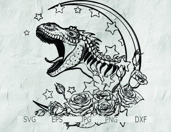 Mandala Svg Dinosaur Dinosaur For Cricut Instant Download Etsy
