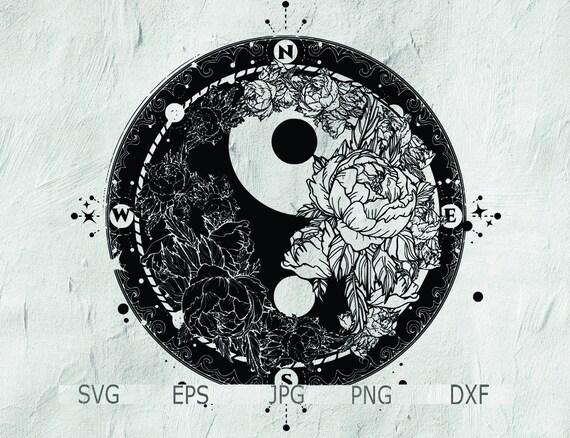 Yin Yang Tattoo Mandala Tattoo Design Yin Yang Mandala Svg Etsy