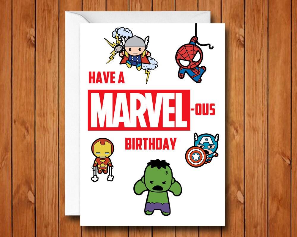 Marvel Birthday Card Avengers Birthday Card Have a ...