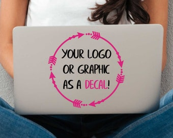 Custom Vinyl Decal Made From Your Logo or Graphic - Choose Size and Colors - Custom Stickers - Bumper Stickers - Laptop and Car Decals