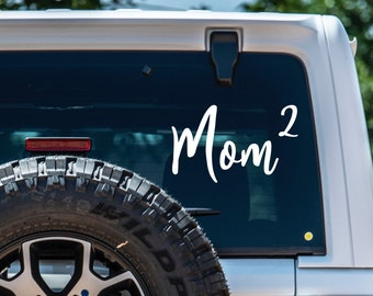 Mom Squared Vinyl Decal - Customizable - Choose Color and Size - Bumper Sticker - Car Decal - Laptop Sticker - Yeti Decal