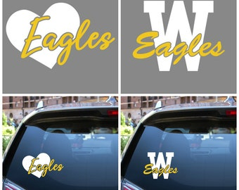 Custom School Car Decals - Choose Design and Colors - Fundraisers or Teacher Gifts - Individually Packaged for Resale - Buy More Save More