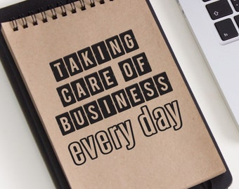 Taking Care of Business Vinyl Decal - Choose Colors and Size - Car Window, Laptop, Yeti Decal - Custom Sticker