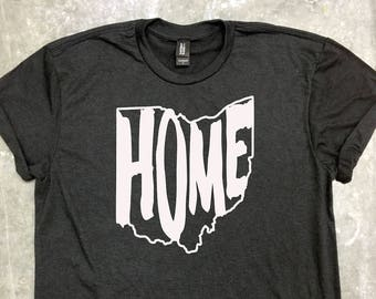 4243903f5 Ohio Home Shirt, Ohio Home Tshirt, Ohio Home Tee, Ohio State Outline, Ohio  State Shape, Mens, Womens, Unisex Tee, T-Shirt