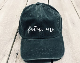 Future Mrs. Hat, Christmas gift, women's hat, aesthetic bridal hat, cool hat, embroidered hat, fiancé hat, engagement hat, engagement gift