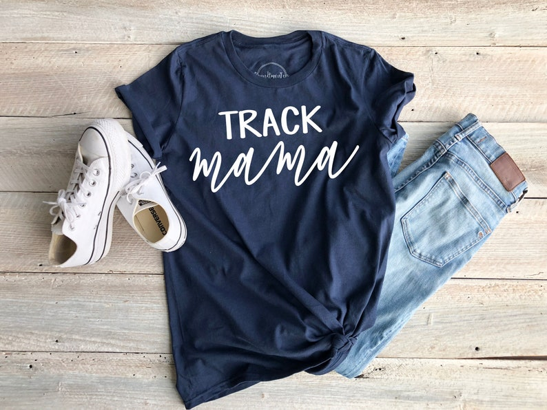 5ee8f60df107a Track Mama women's mom t-shirt | Etsy