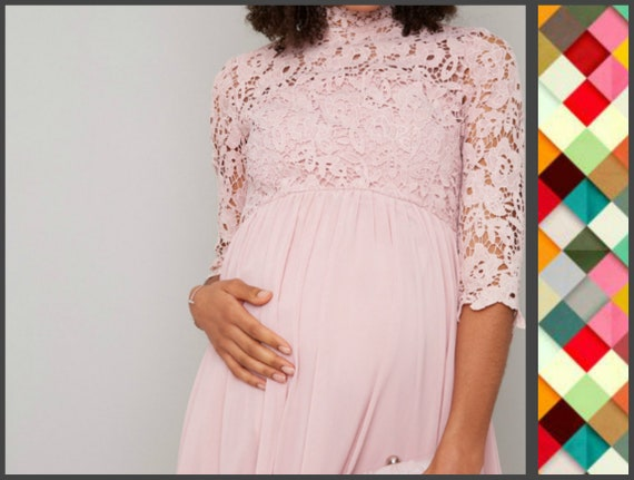 Lace Maternity Dress Clothes 70s Chiffon Wedding Guest Dress Etsy,Modern Wedding Lace Dress Styles For Wedding Guest