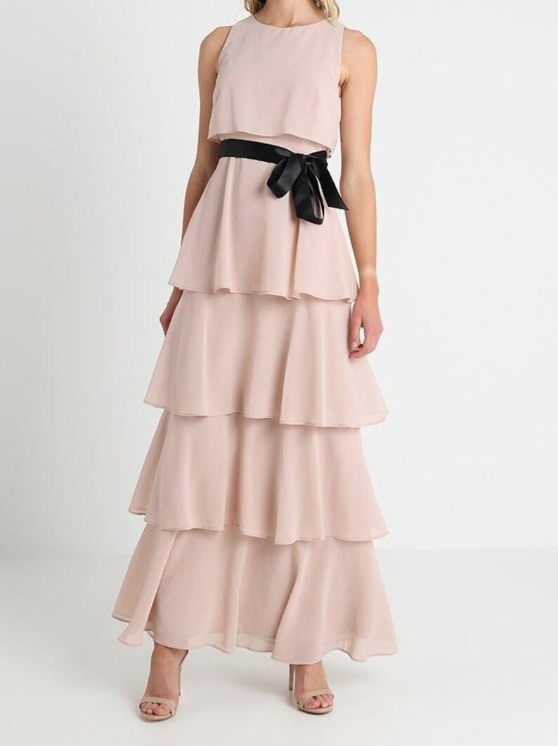 db9bc33ac55 Pink maxi dress 70s infinity dress long formal 80s prom kaftan