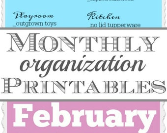 Monthly Organization Cleaning Printables - Purge Your Way to a Cleaner Home ONE Month at a Time!