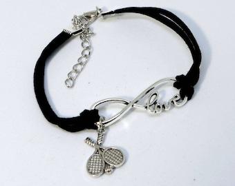Infinity Tennis Bracelet - Black