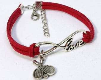 Infinity Tennis Bracelet - Red