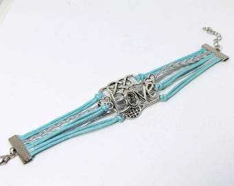 Infinity Love Tennis Wrap Bracelet - Blue
