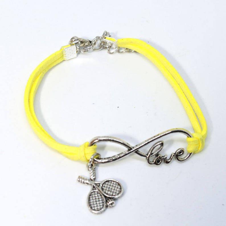 Infinity Tennis Bracelet  Yellow image 0