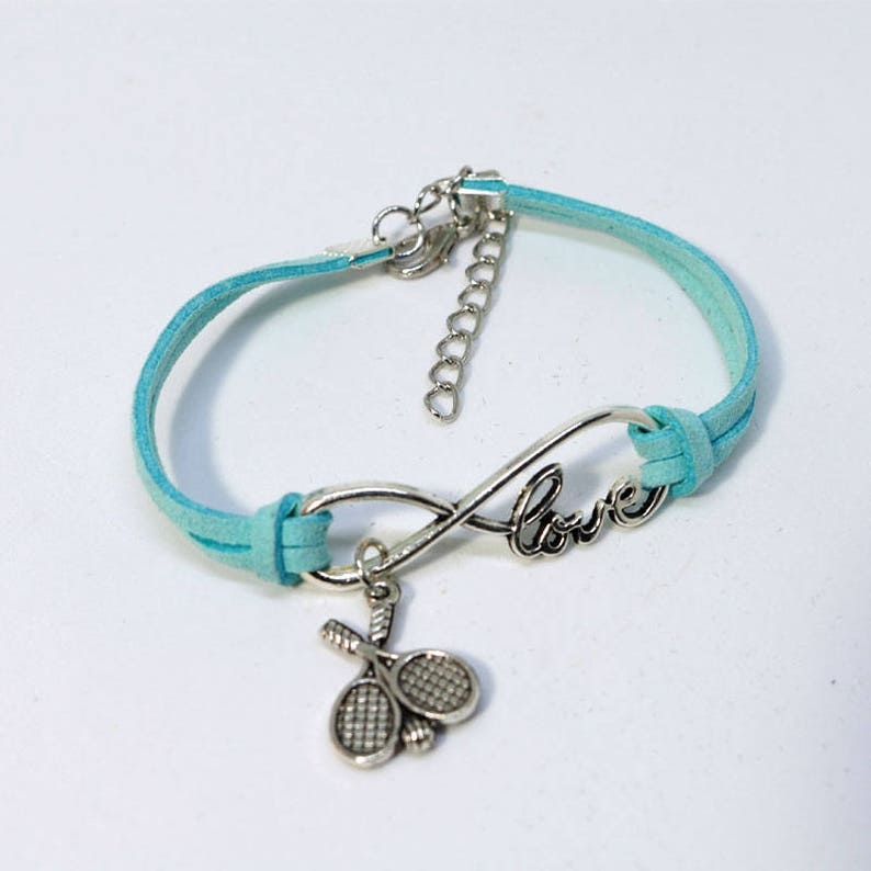 Infinity Tennis Bracelet  Light Blue image 0