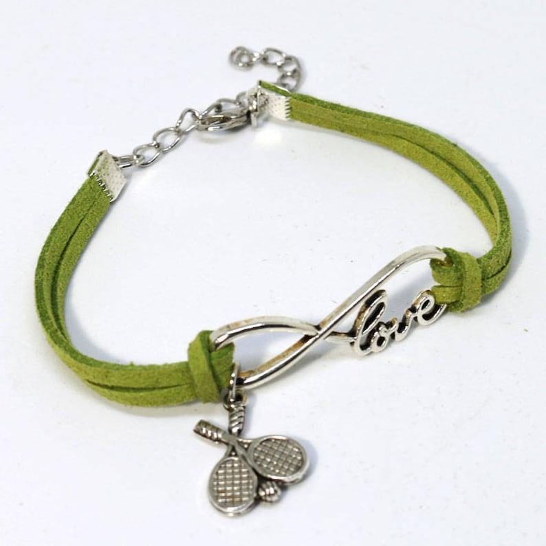 Infinity Tennis Bracelet  Green image 1