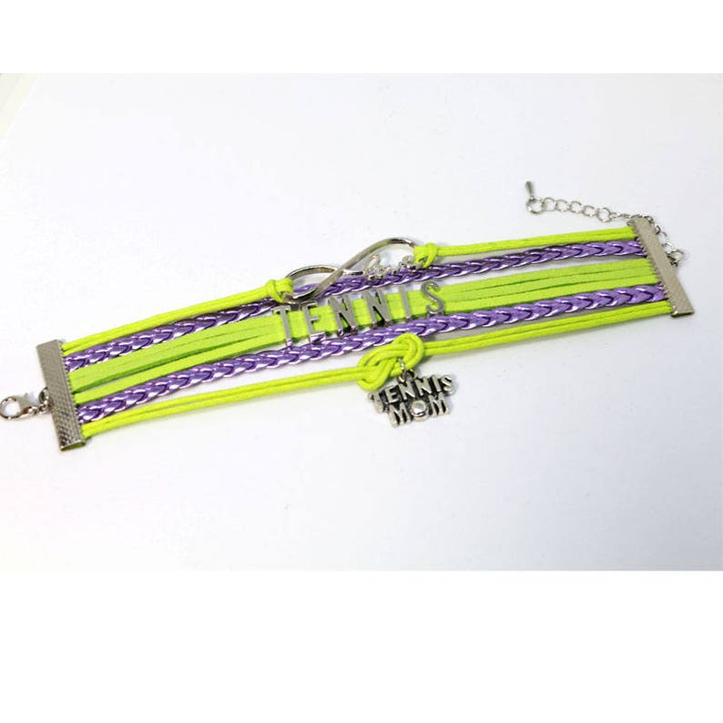 Infinity Love Tennis Mom Wrap Bracelet image 0