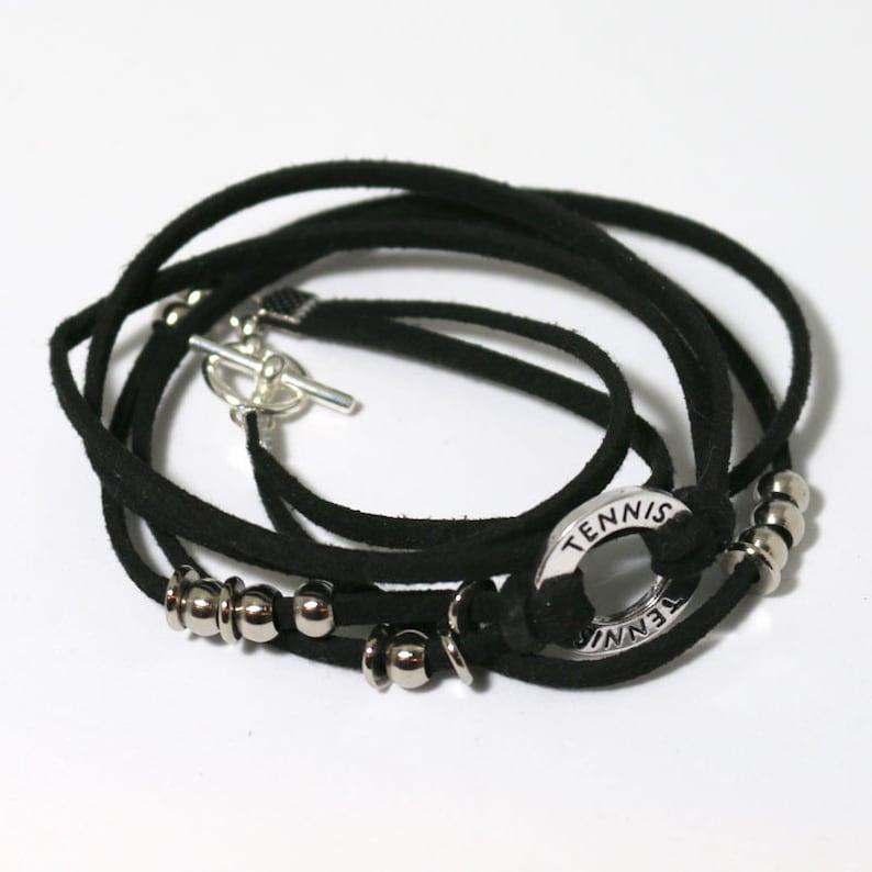 Boho Tennis Wrap Bracelet image 0