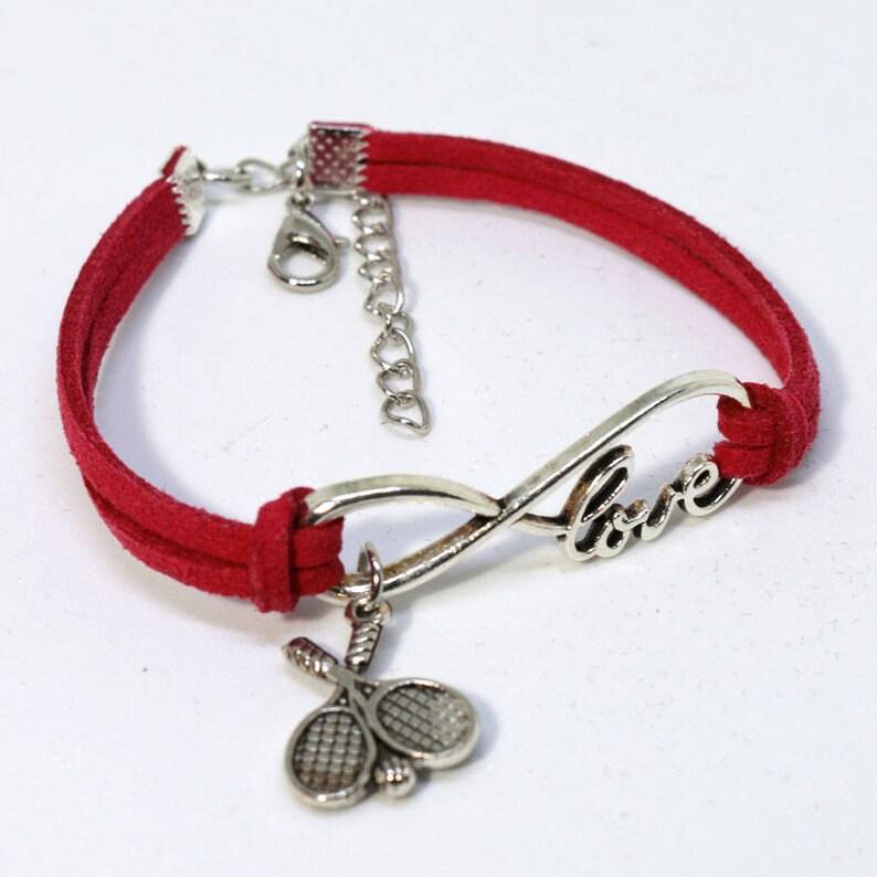 Infinity Tennis Bracelet  Red image 0
