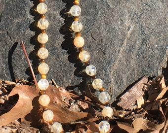 Pineapple Quartz Necklace