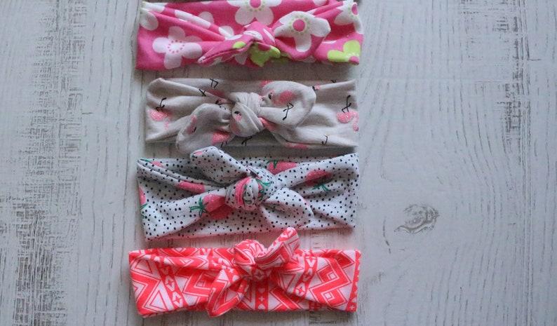 Pink headband Strawberry headband Flamingo headband Flower headband Headband for Babies newborn headband Baby Bow knot headband