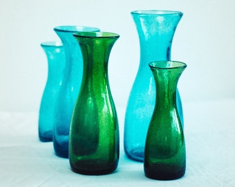 Recycled Bubble Glass Carafes in 3 Sizes