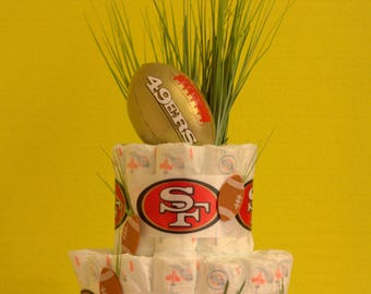 Forty-Niners Football Diaper Cake