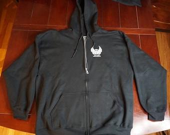 Black Full Zip Up Hoodie