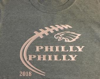 315b17c4eb0 Philly Philly Super Bowl Philadelphia Eagles Women s Glitter Shirt Dilly  Dilly Gift Football Shirt NFL Sparkle Sports Wear Fan Wear