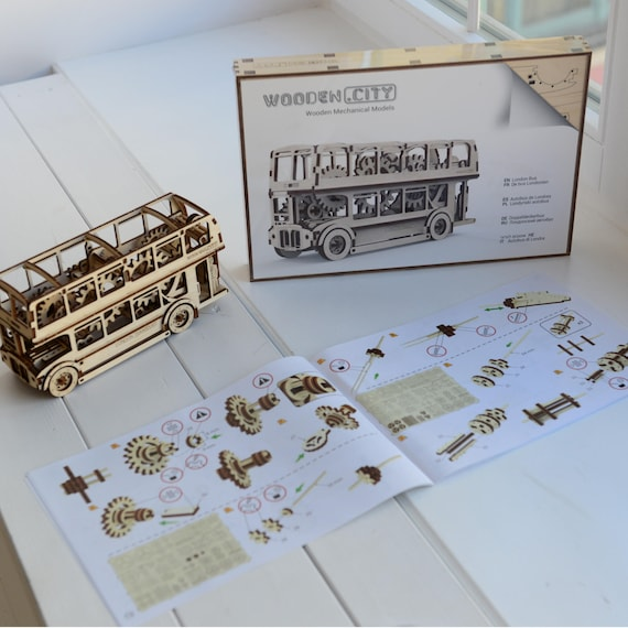 London Bus | Wooden City Mechanical Model Kit