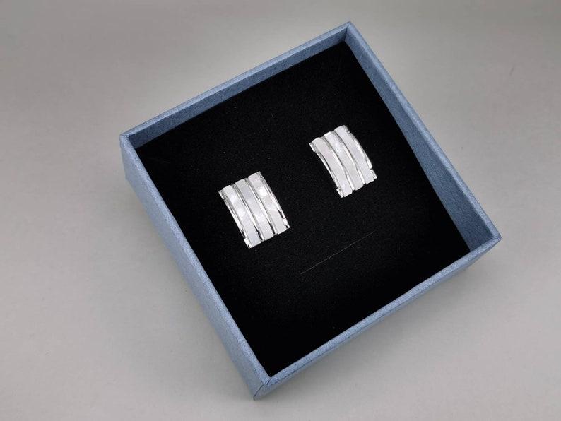 minimalism cufflinks rectangle cufflink Mother of pearl cufflink wedding cufflink bestmen cufflink wedding cufflink groom cufflink