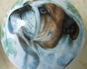 Ceramic Cabinet Knobs Dog Rough Collie Kitchen Door Pulls