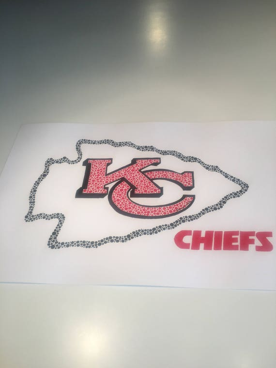 Original Dot Art Kansas City Chiefs Logo 11 X 17 Ready To Etsy