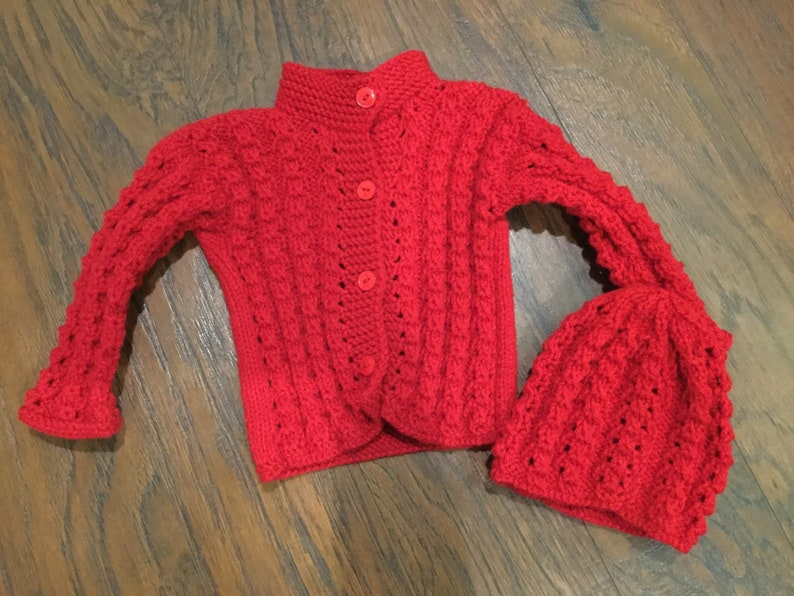 b8b4b8601 Handmade Knitted Sweater for toddler child 1 year old