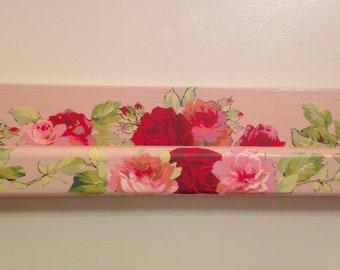 Floral Nursery Decor Flower Floating Shelf Pink Bookshelf Rose Blush