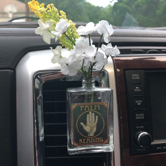Car Vent Clip Vase Palm Reader Fill With Essential Oil Or Etsy